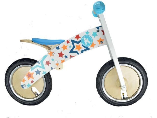 Kiddimoto Kurve Løbecykel Børn blå/farverig | Learner Bikes